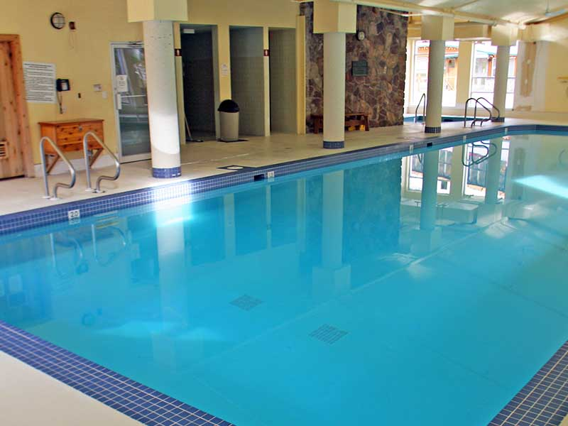A photo of the swimming pool at Waterton Lakes Lodge Resort